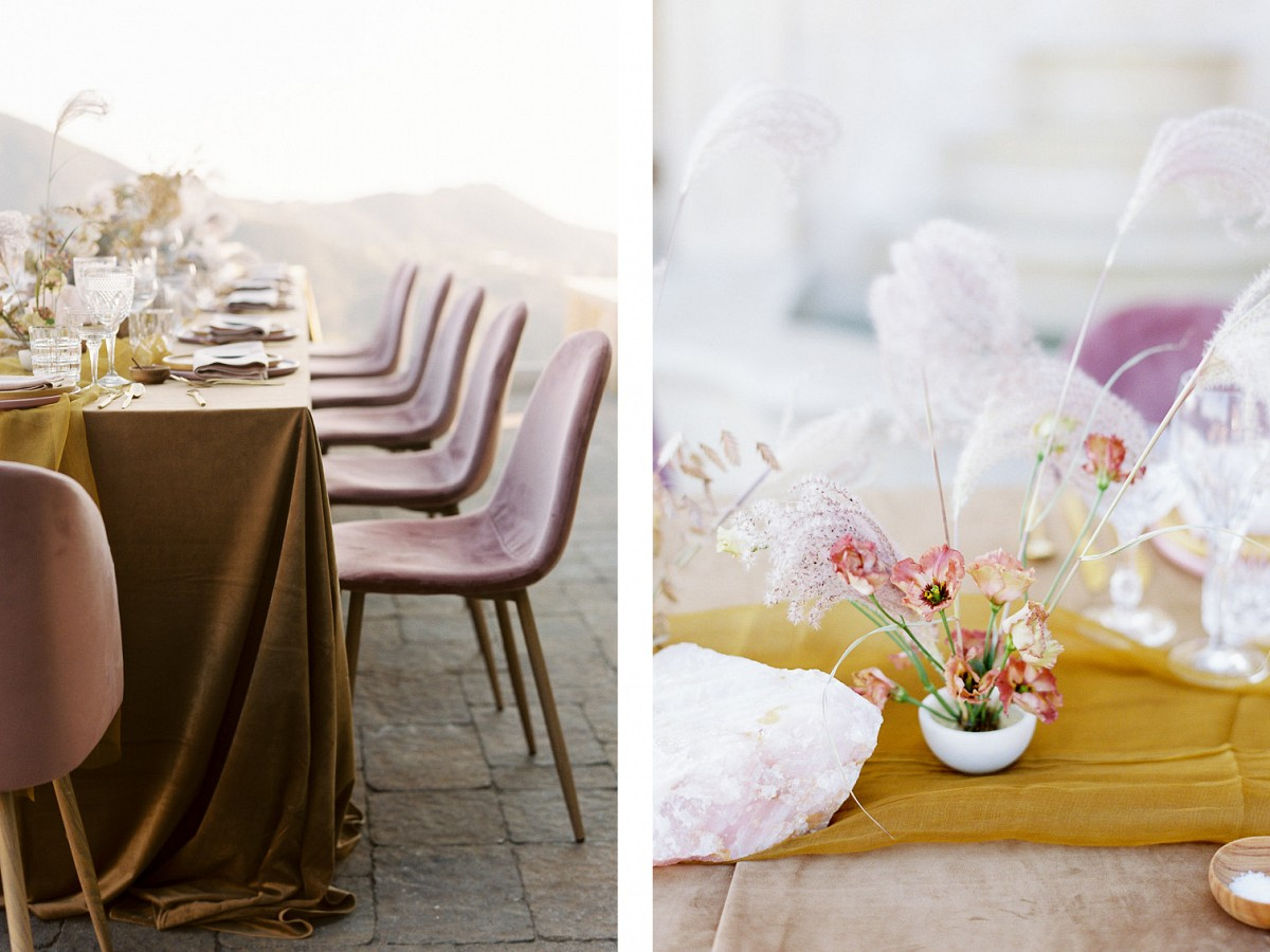 Lilac's and Golden Fire Wedding Ideas in Malibu
