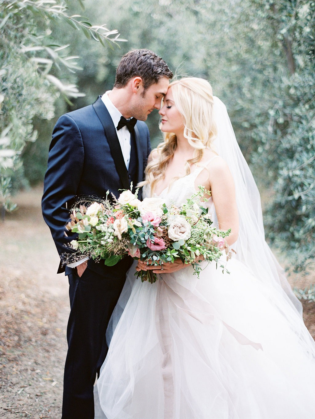Intimate and Romantic Olive Grove Wedding Ideas