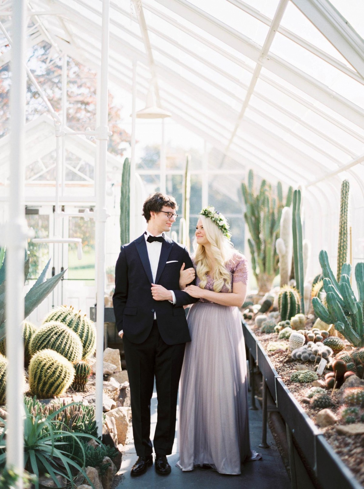 Intimate Conservatory Wedding in a Lilac Gown