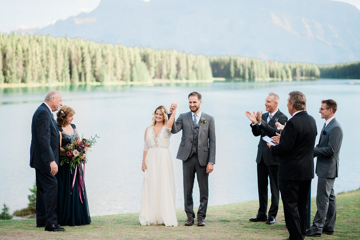 Maria and Sean's Intimate Banff Mountain Elopement