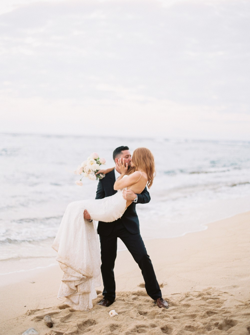 Oceanside Dominican Republic Wedding with Gold Details