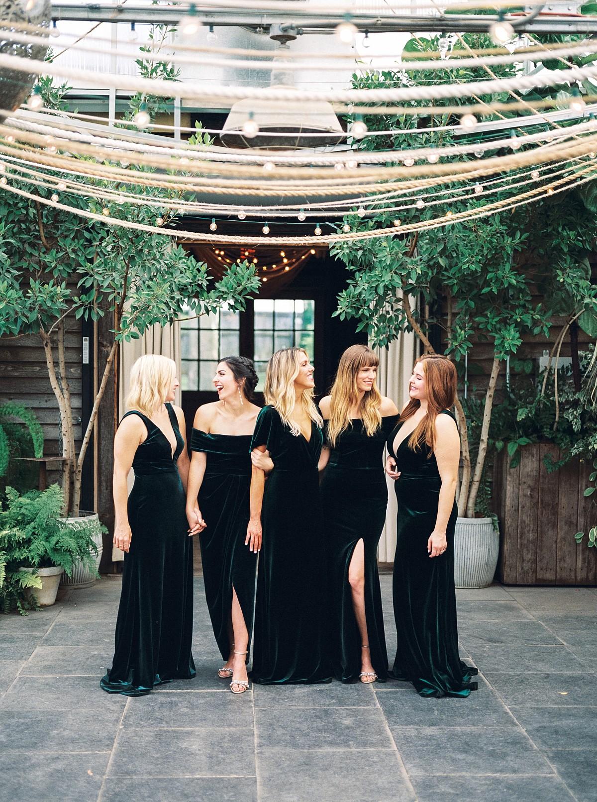 velvet bridesmaids dresses