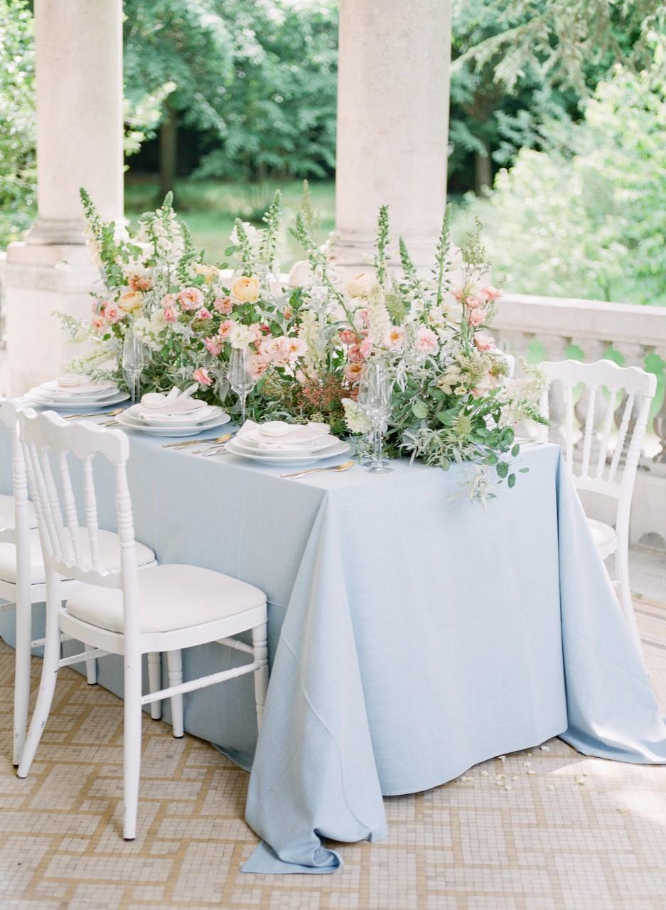 Black Tie Chateau Wedding Full of Summer Blooms