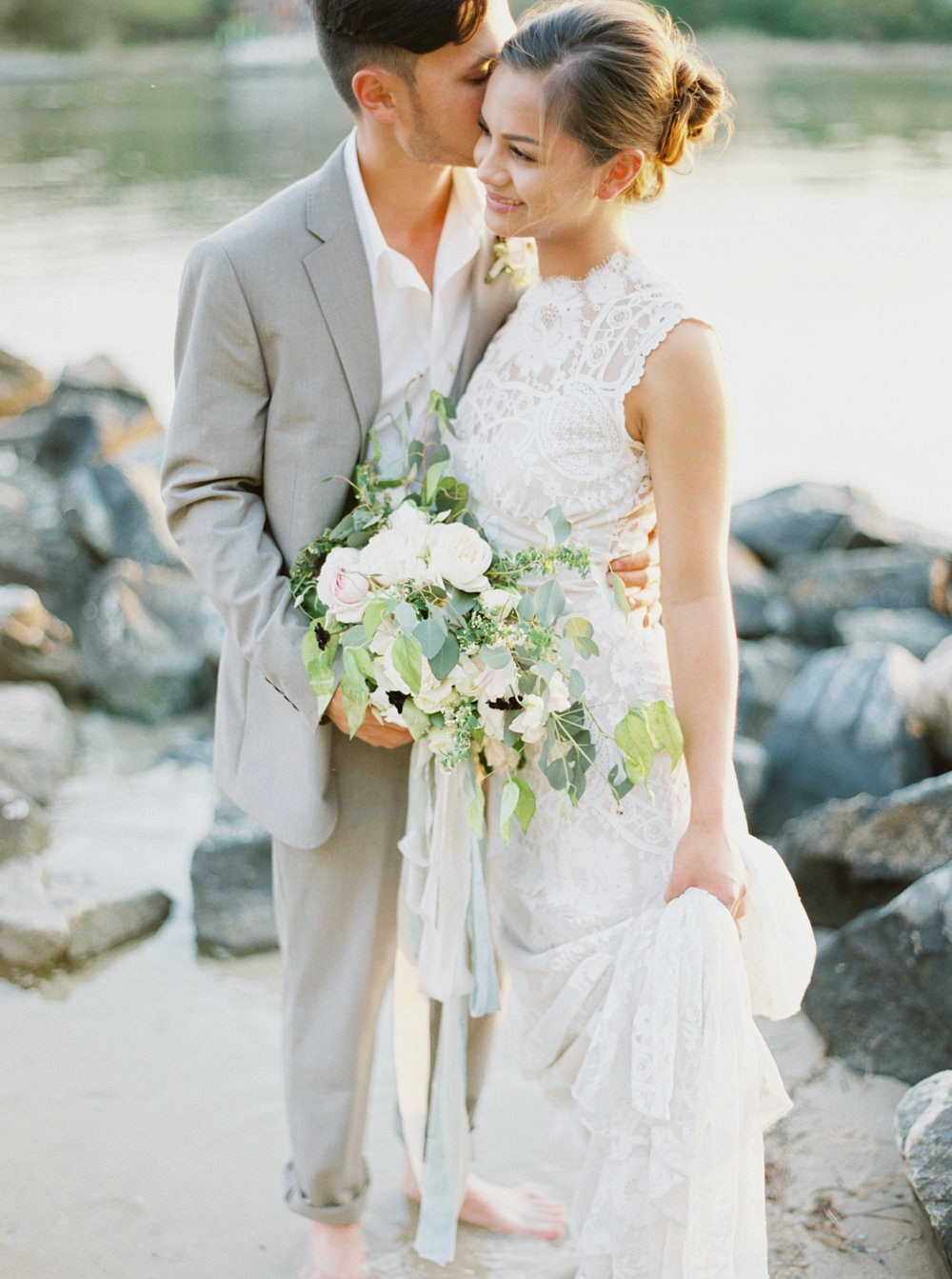 Emotional Seaside Couples Session