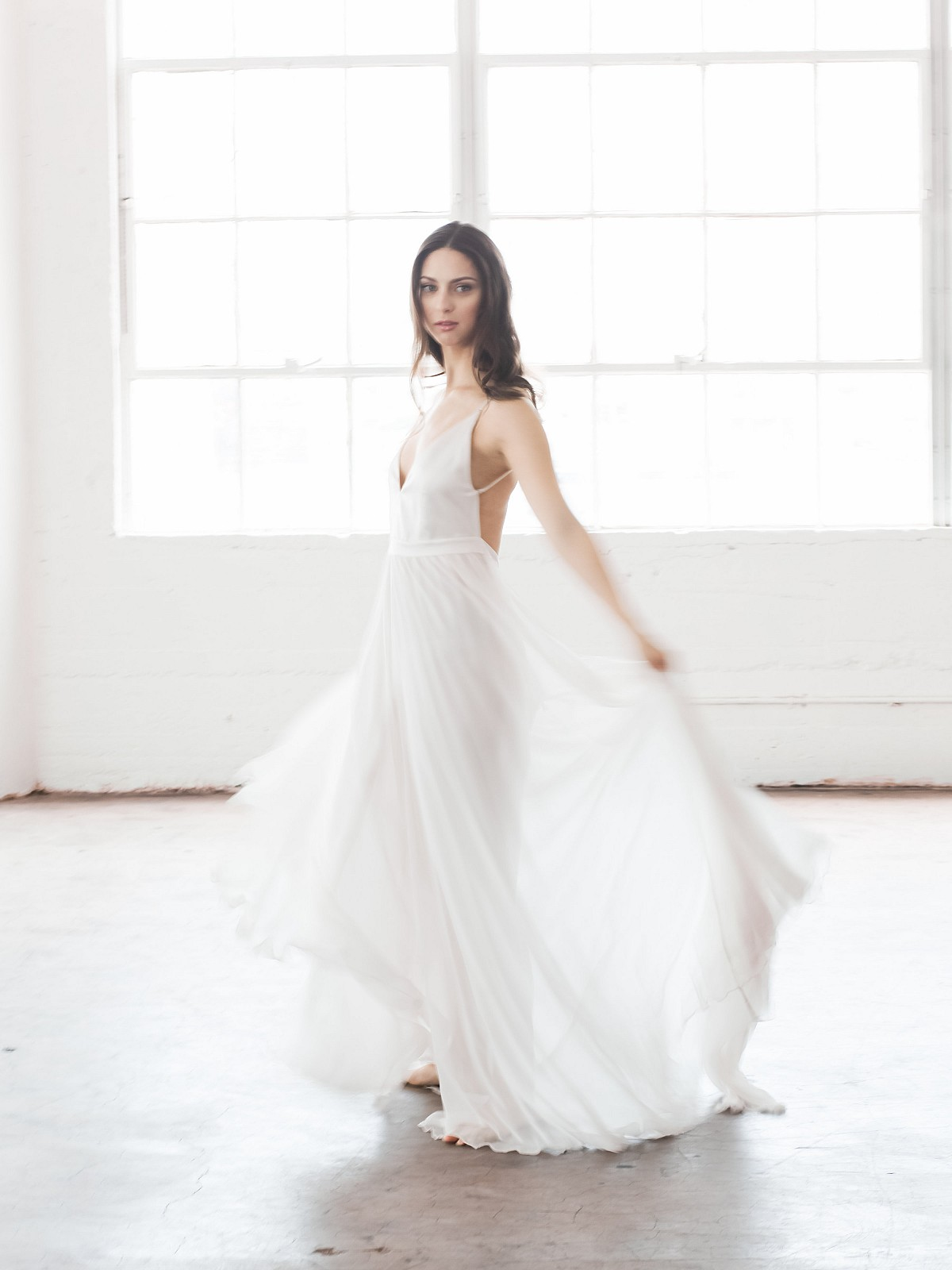 All White Ethereal Winter Bridals
