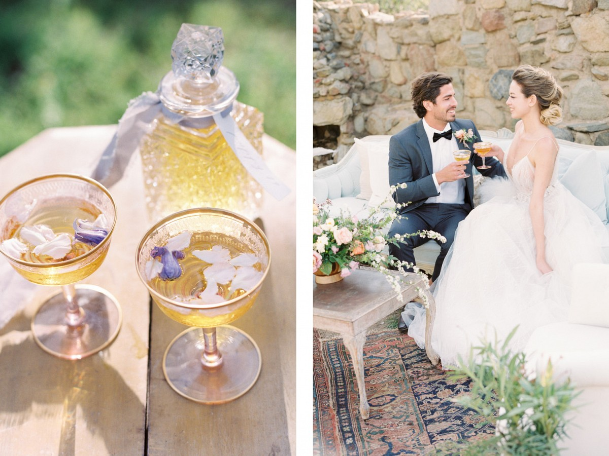 Heirloom Italian Style Ideas with Blush and Gold