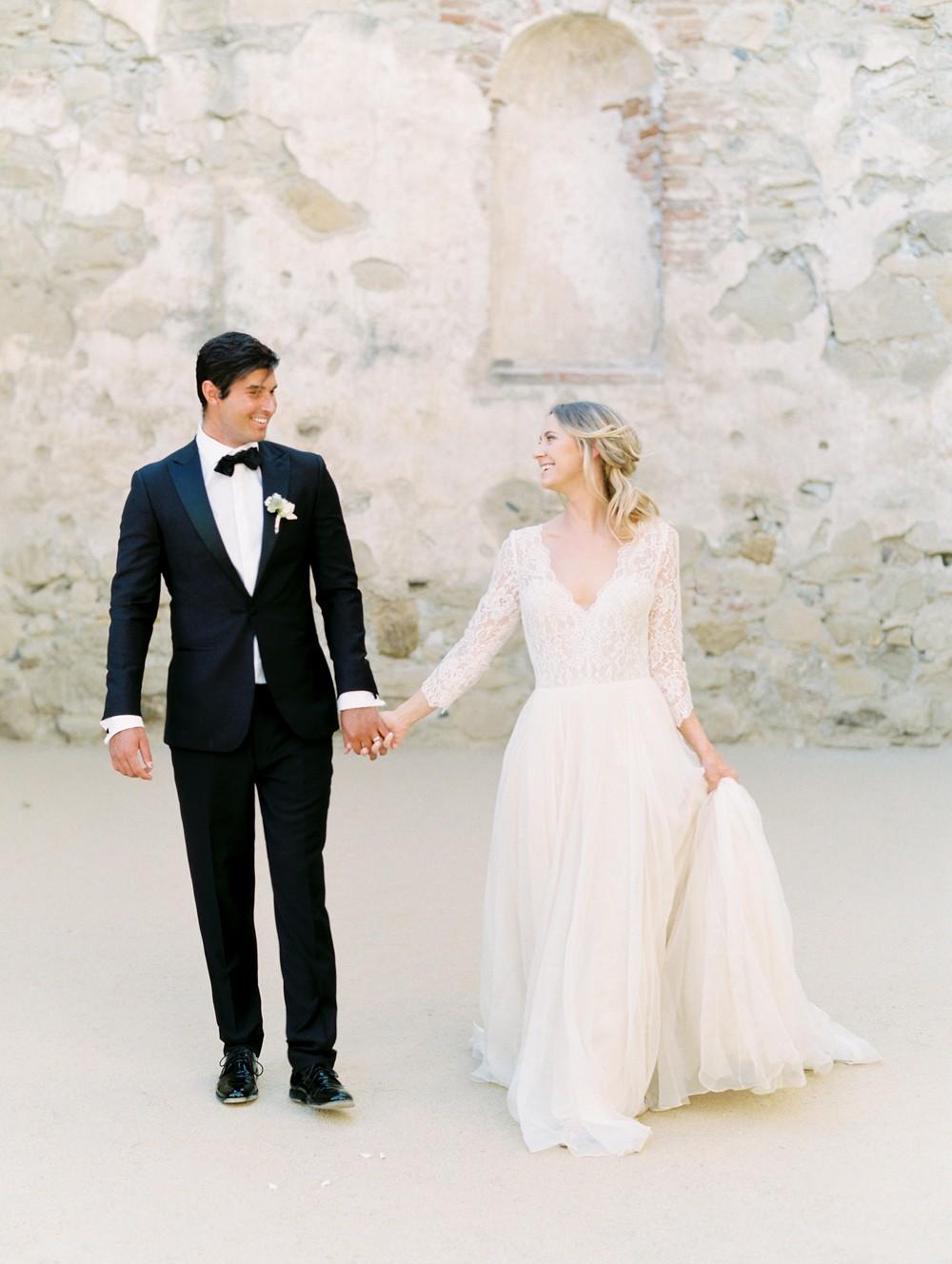 San Juan Mission Wedding Inspiration with neutral tones