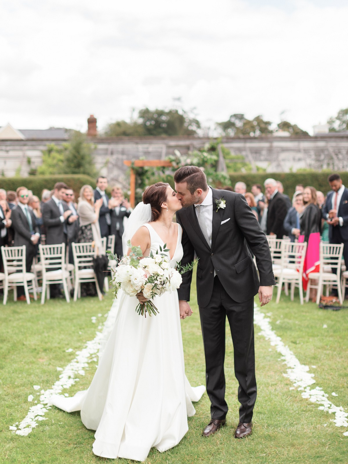 An Irish Manor House Wedding with Grey Bridesmaids Dresses