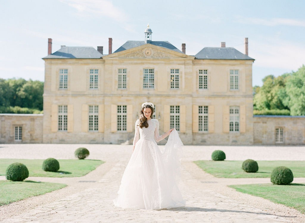 Romantic French Blue Chateau Wedding Ideas