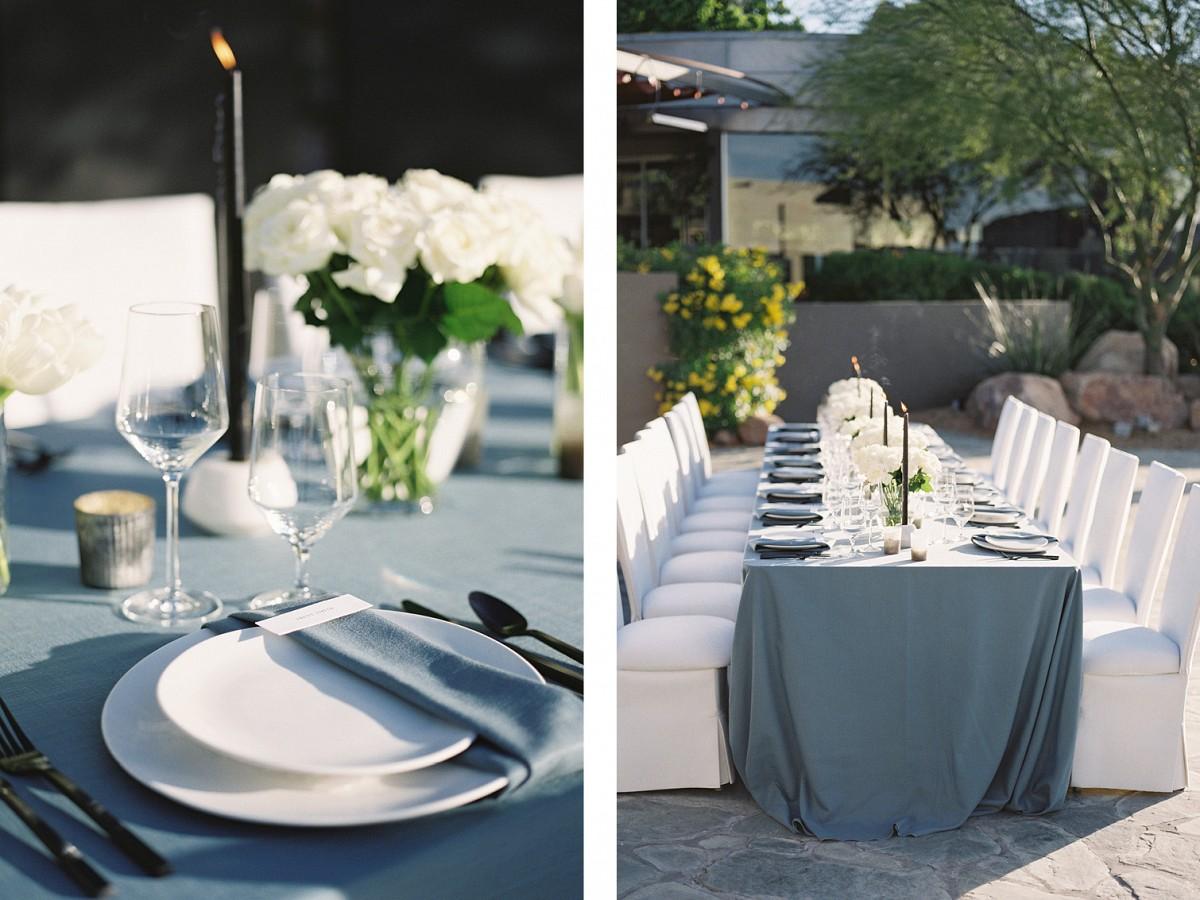 Modern and monochromatic wedding ideas