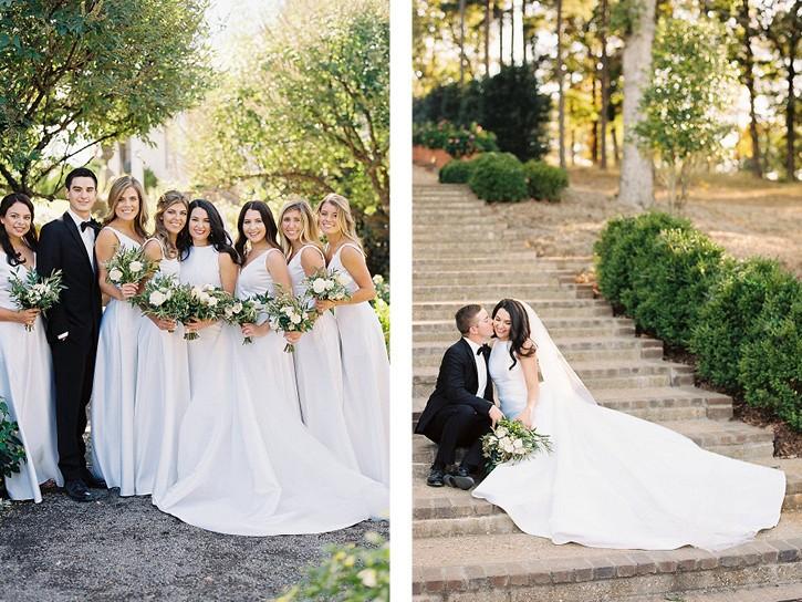 Monochromatic Moss Mountain Wedding