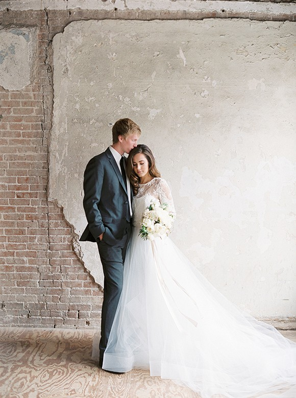 Light and Organic Indoor Wedding Ideas by Morgan Gosch Photography on Wedding Sparrow