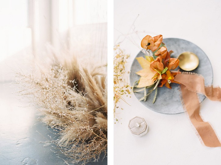 Fall inspired minimalist modern wedding inspiration