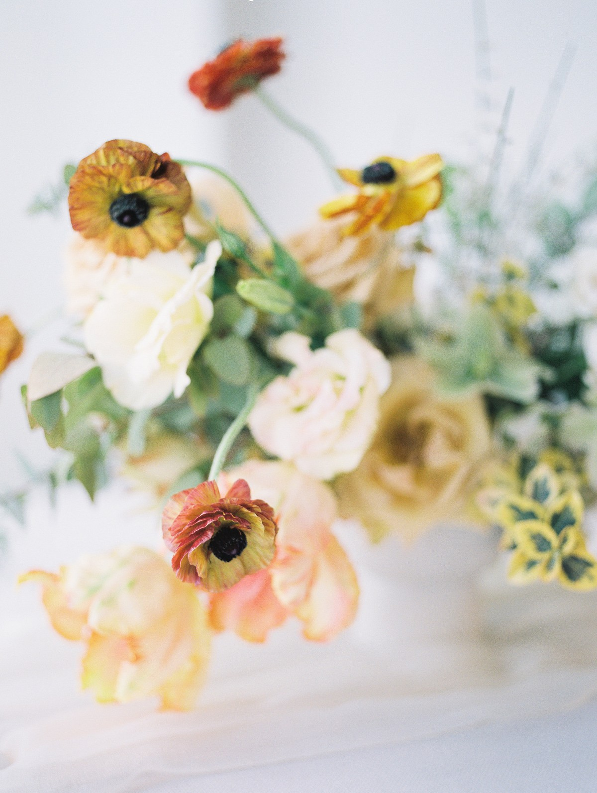 Natural Beauty and Citrus Colored Florals