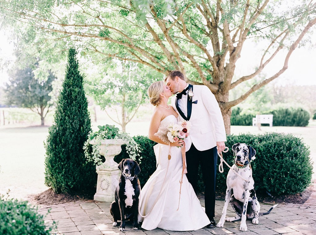 Virginia Wedding where Couple's Rescue Dog Walks Bride Down the Aisle!
