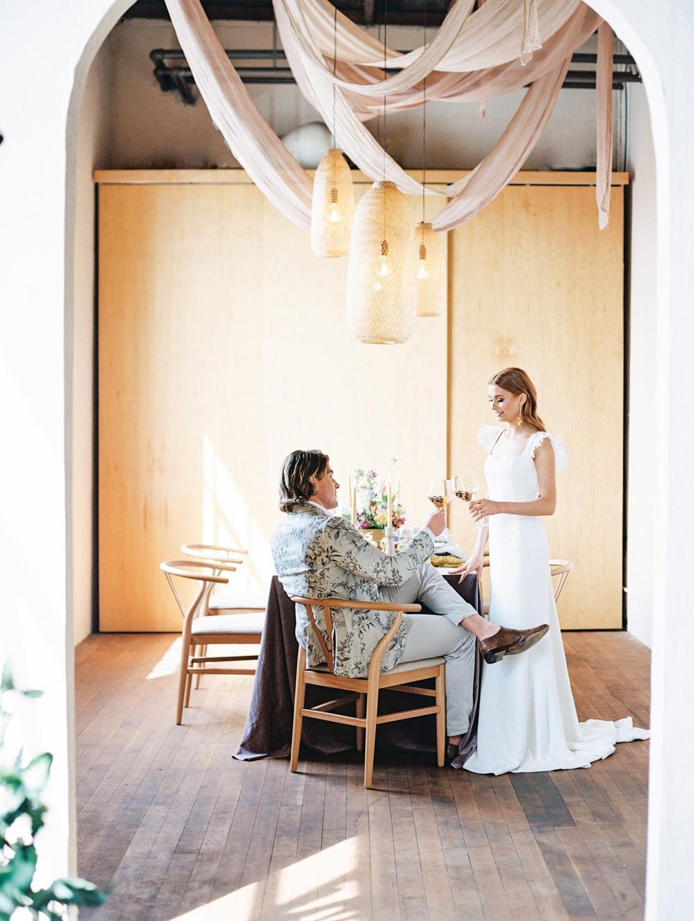 Intimate Reception Editorial Shoot Inspired by Bridgerton