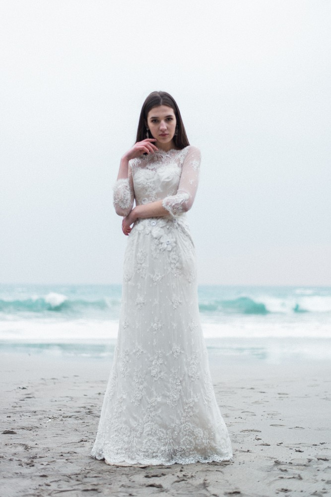 Coastal bridals with romantic wedding gowns