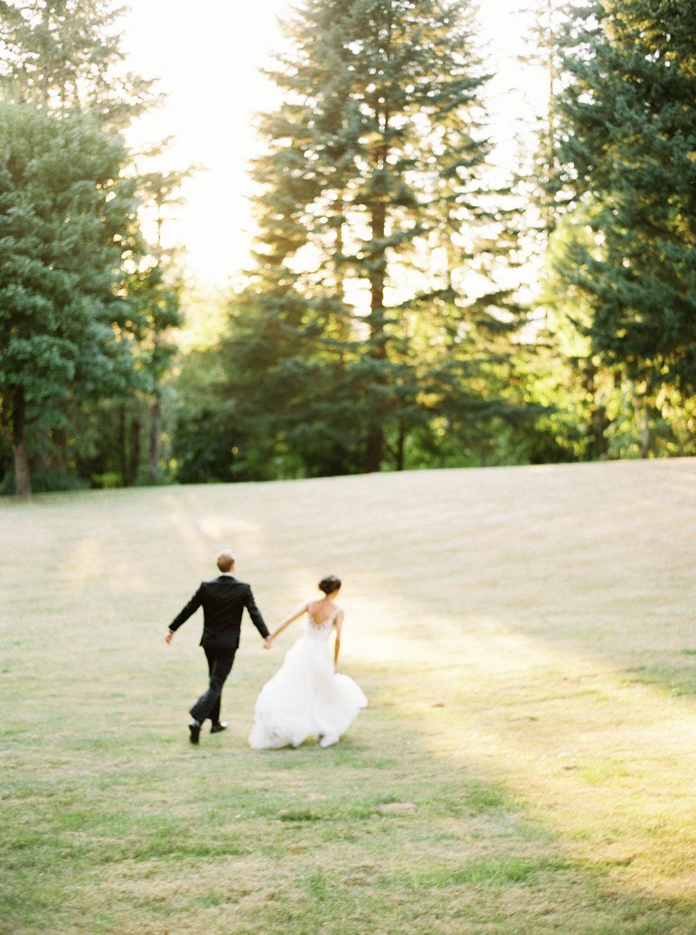 Outdoor Oregon Wedding with Blush Bridesmaids