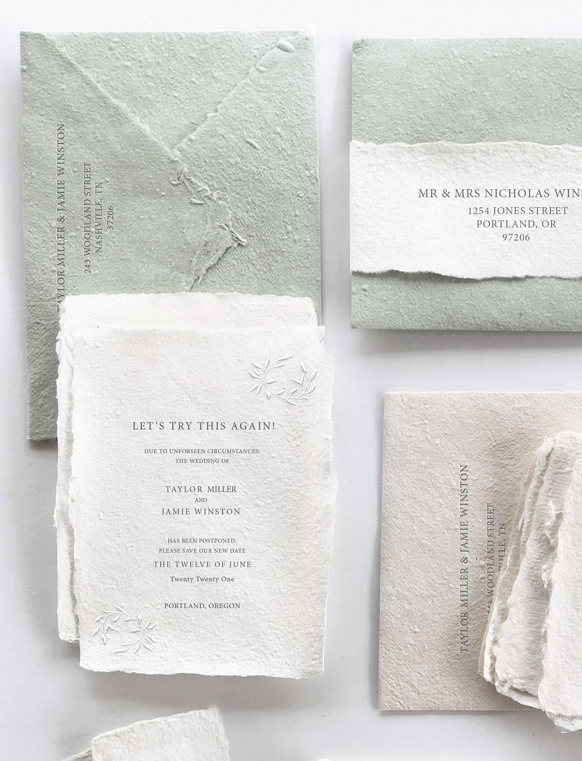 elopement cards wedding
