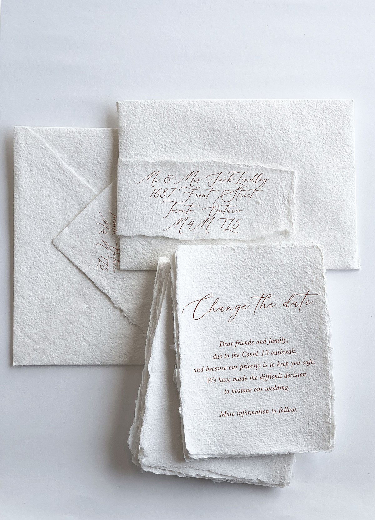 change the date wedding invitation