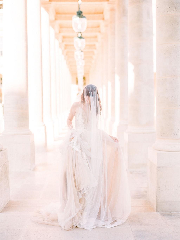 Couture Bridal Style at the Palais Royal, Paris