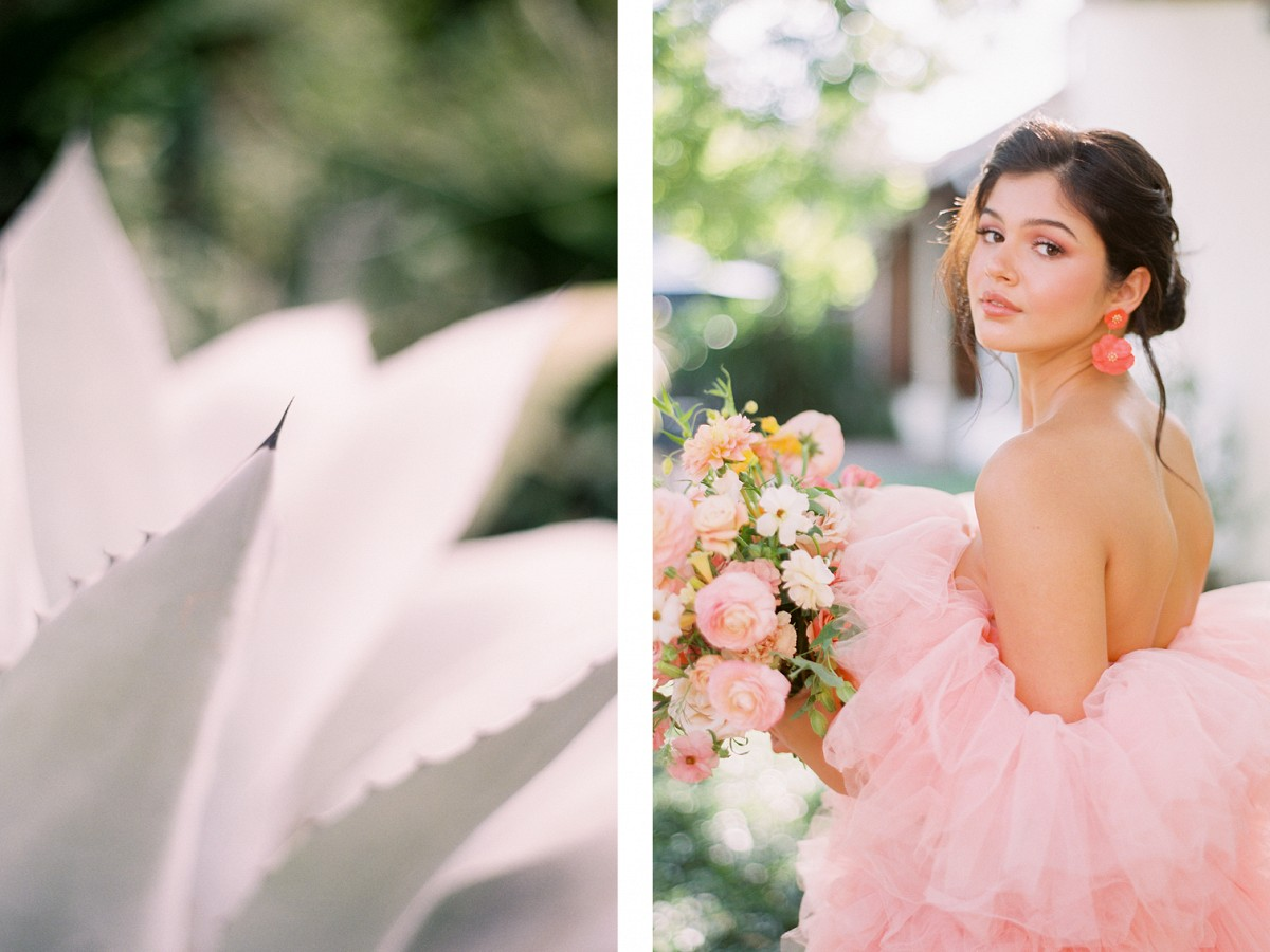 Pretty in Pink - Showstopping Wedding Florals & a Pink Wedding Dress