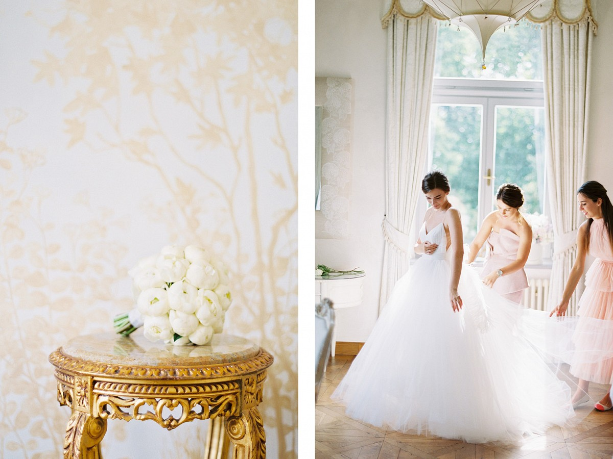 All White Elegant Chateau Wedding in Prague