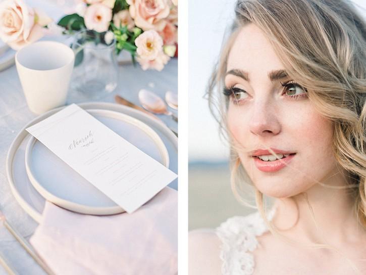Blush and peach wedding ideas in the prairies