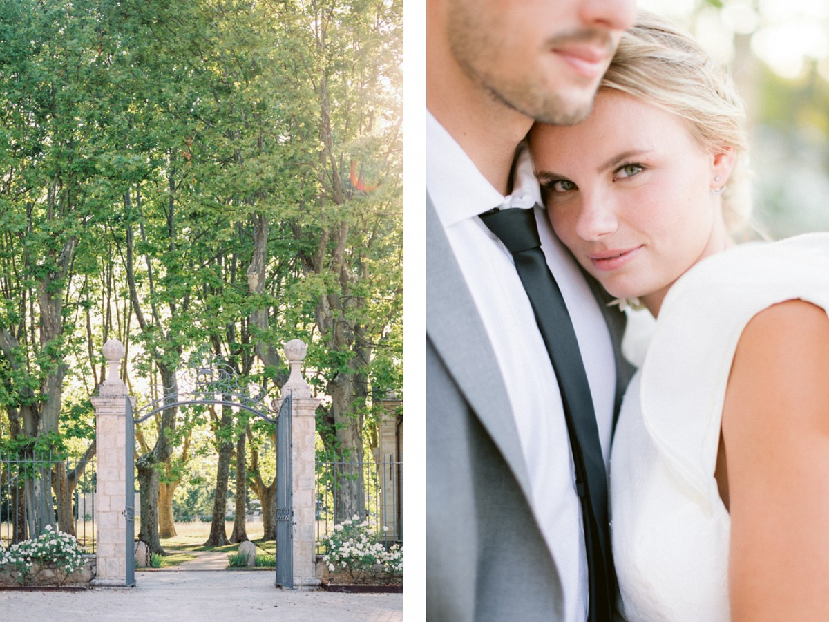 Modern & Elegant Wedding in Provence with Nude Color Palette