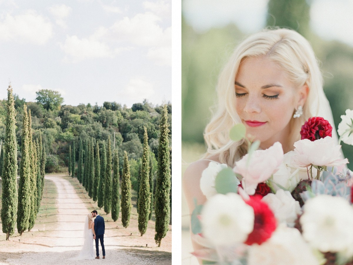 Outdoor Umbria Wedding with Twinkling Light Reception