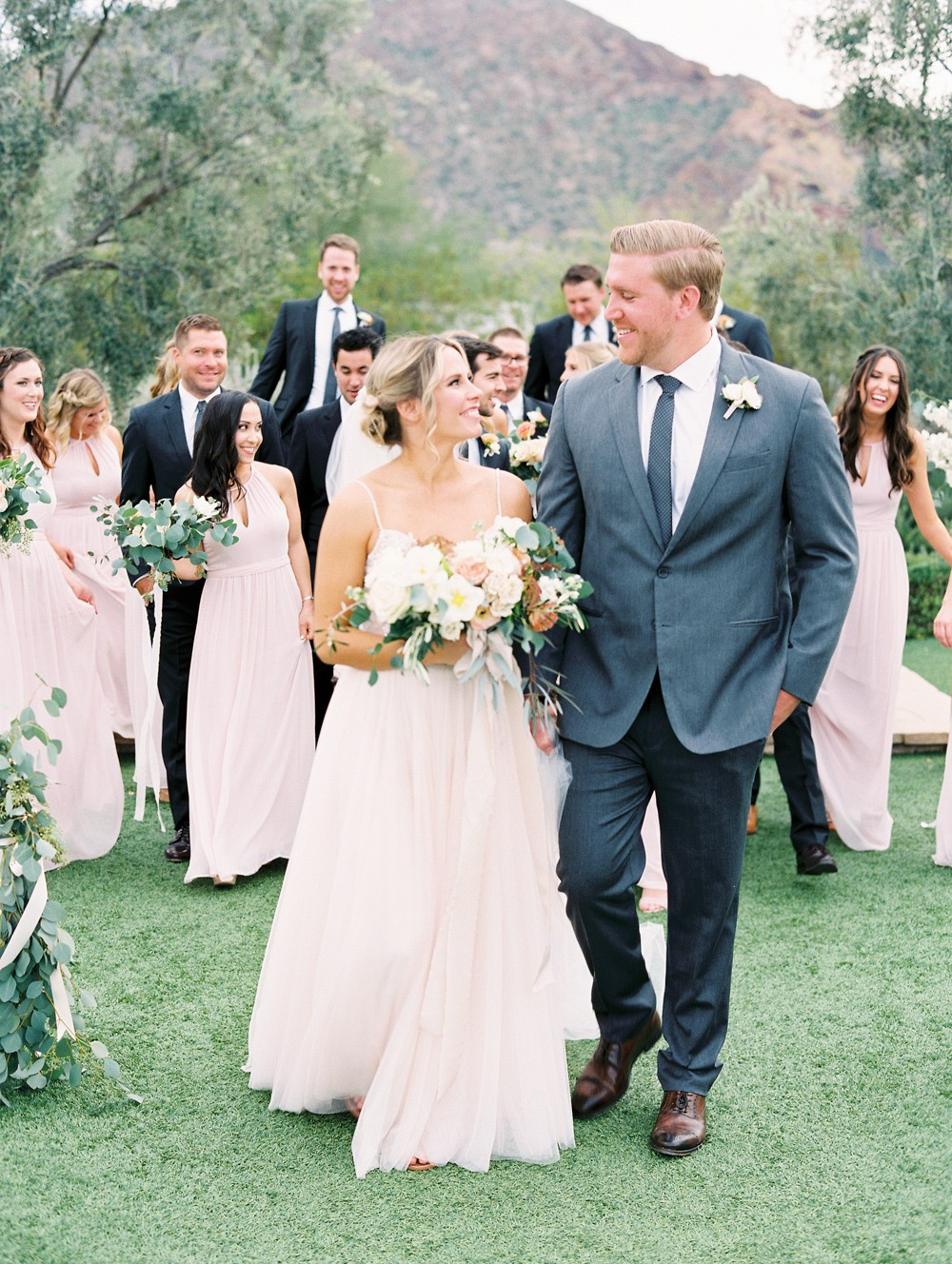 Marian and Mark's Blush and Coral Arizona Wedding