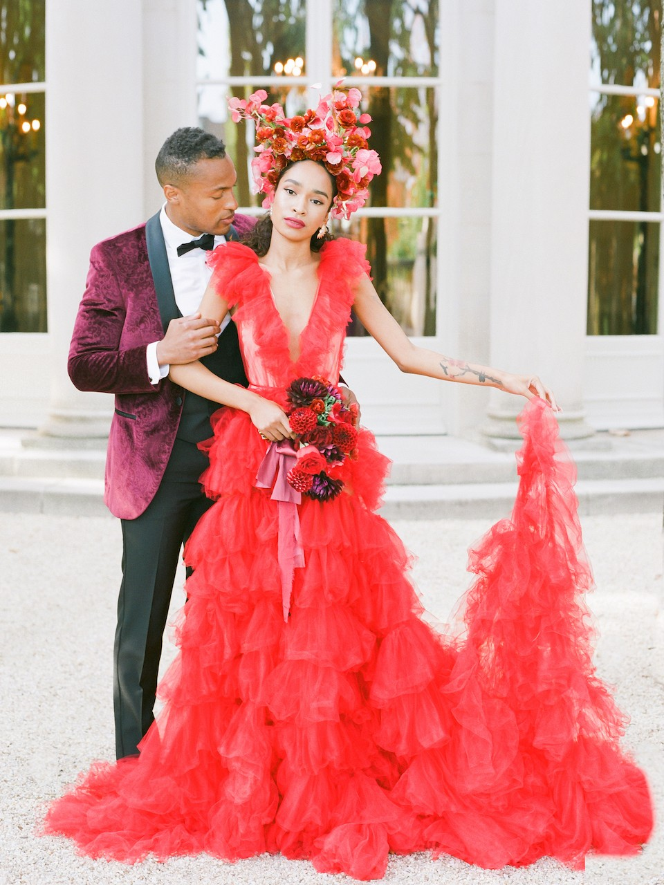 Romance in Red - Bridal Inspiration