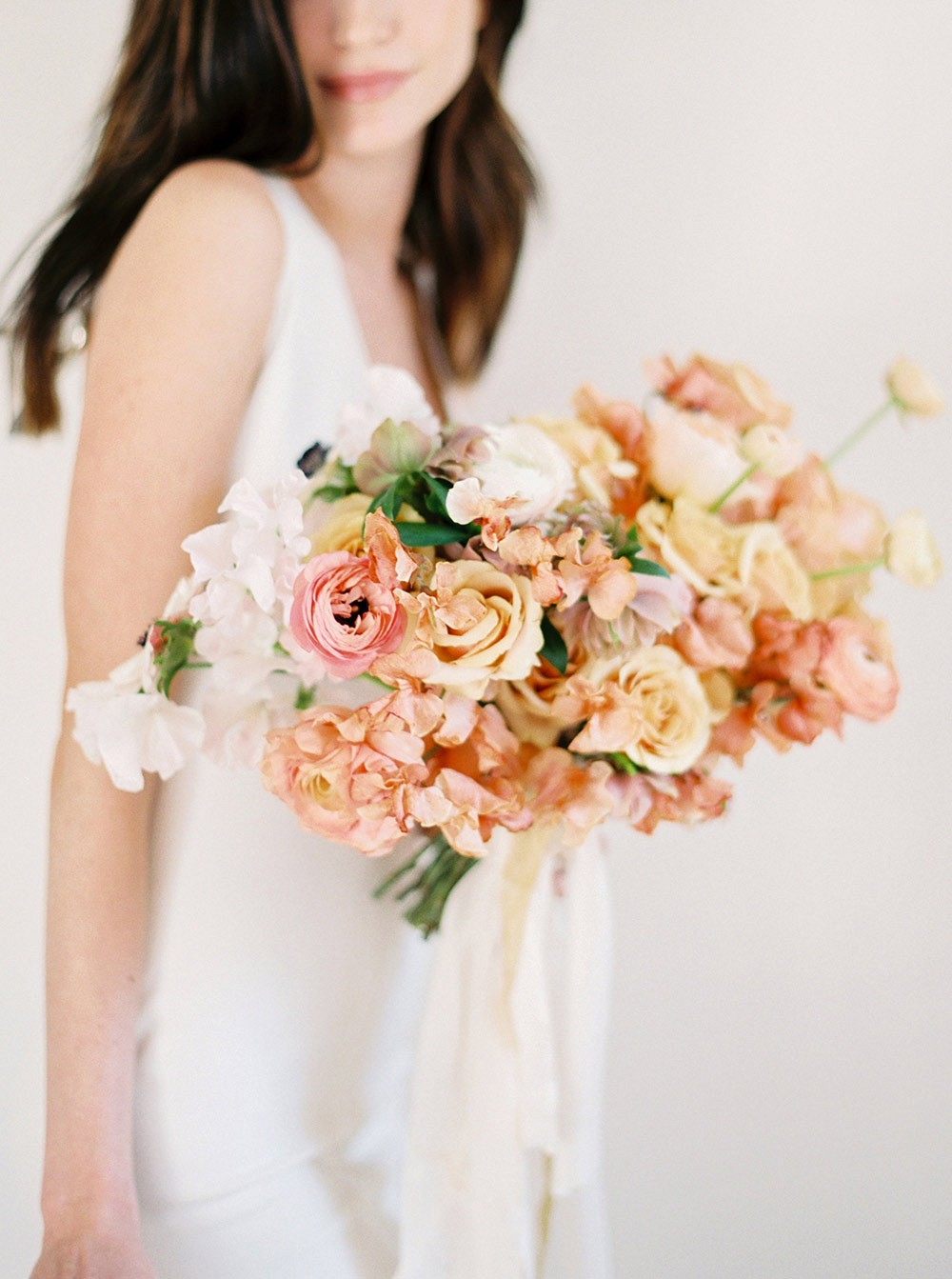 Ethereal Rose Golden Bridal Style