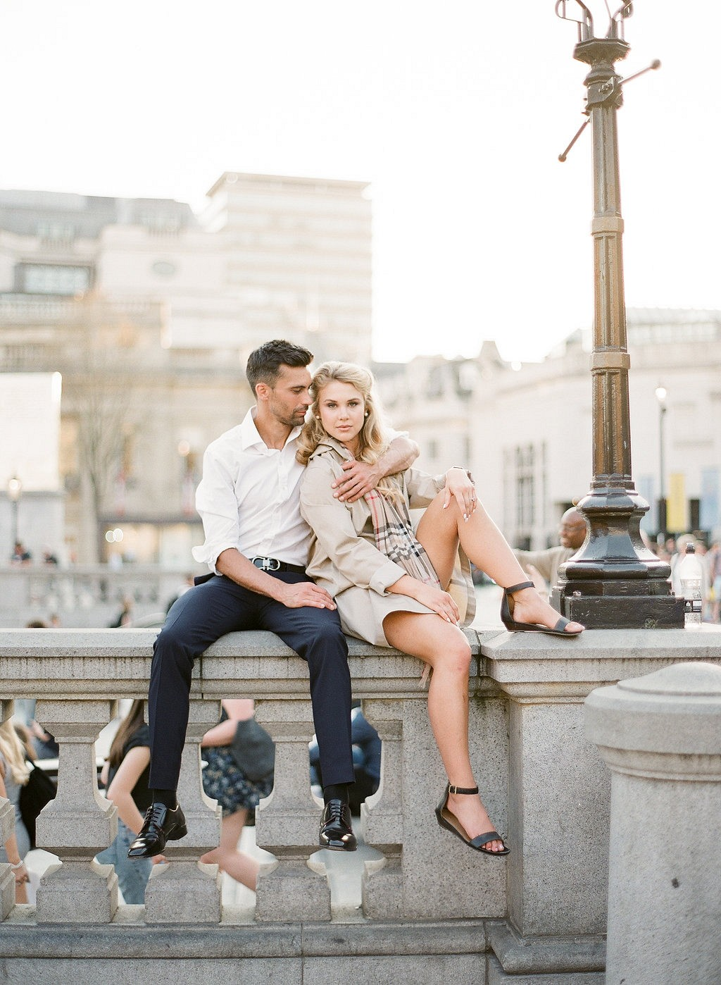 Libby & Marcus - Romantic London City Engagement