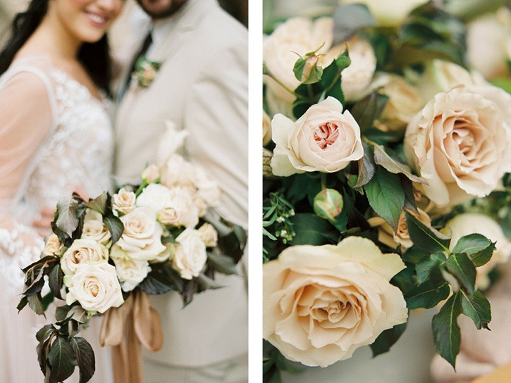 Neutral Fall Wedding Ideas with Mustard details