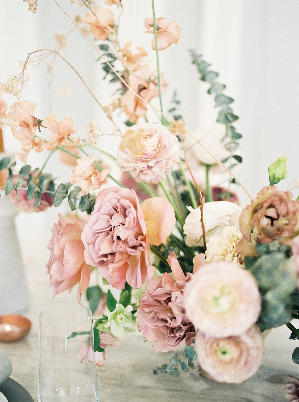 Blush and Caramel Florals for a Spring Wedding