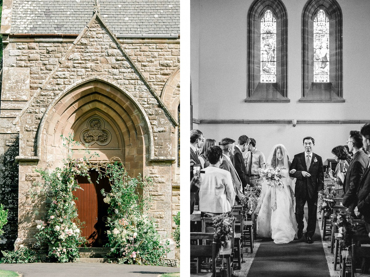 Scottish Castle Wedding with Church Ceremony