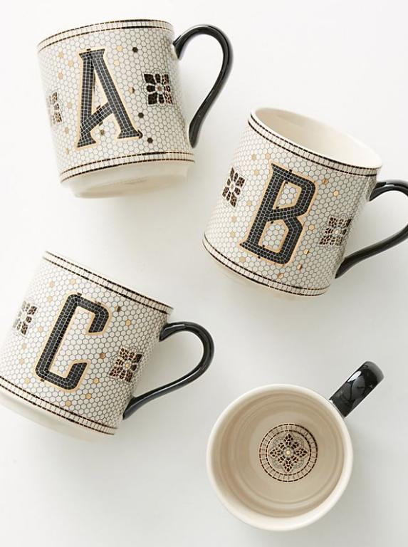 Monogram Mugs Anthro
