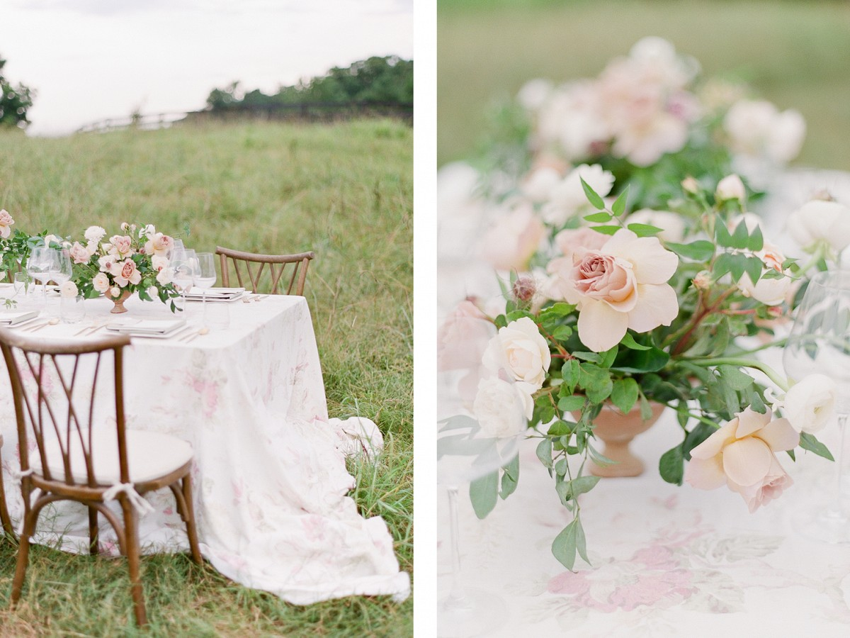 Romantic Farm Wedding Style with a Couture Gown