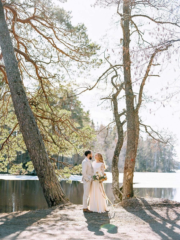 Scandi Style Brunch Wedding with Gold Florals