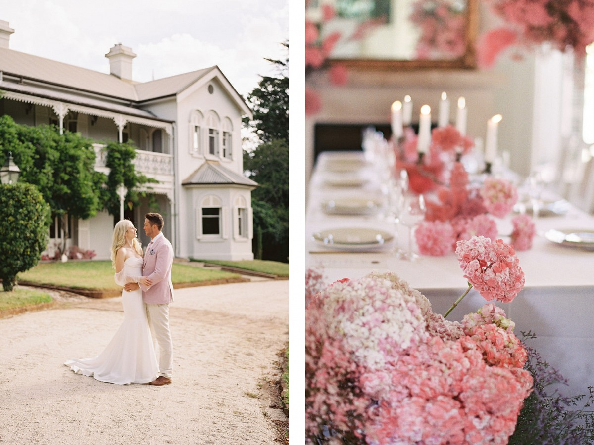 Contemporary Wedding at Somerley House full of Ombre Pink