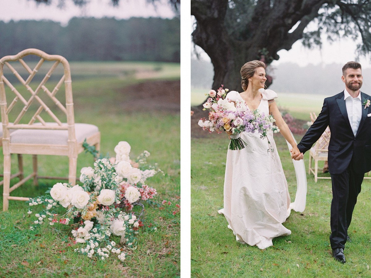 Summer in South Carolina Wedding with Sweet Peas