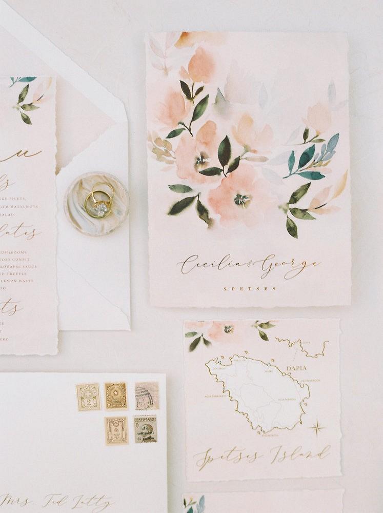 Intimate Spestes Greece Villa Wedding Inspiration