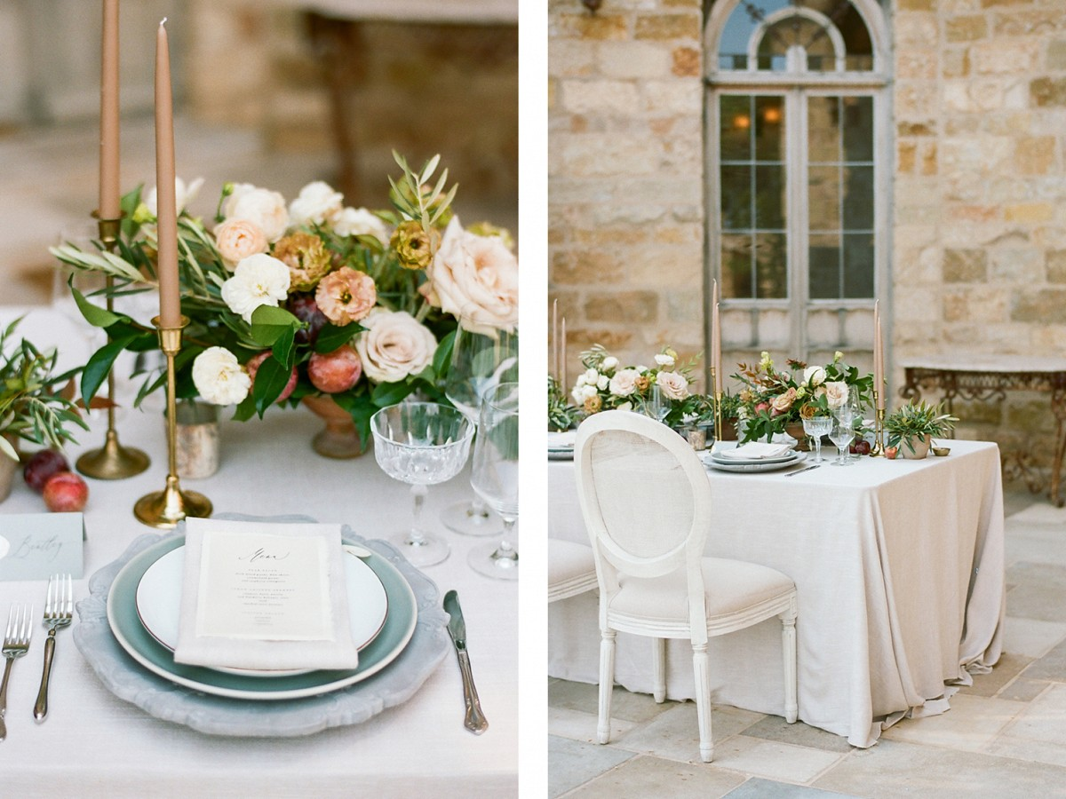 Lush Peach & Sage Tones at Sunstone Villa, California