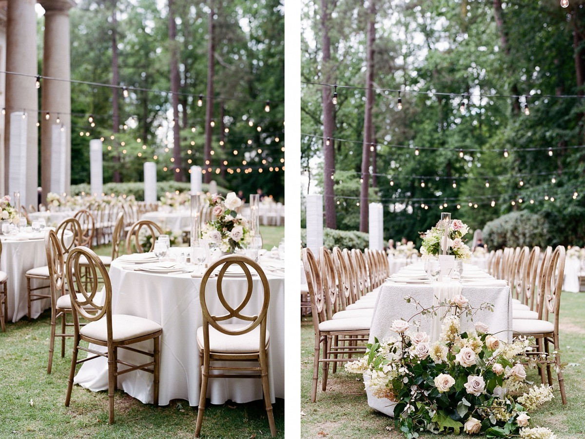 Soft Vintage Pinks in this Swan House Wedding