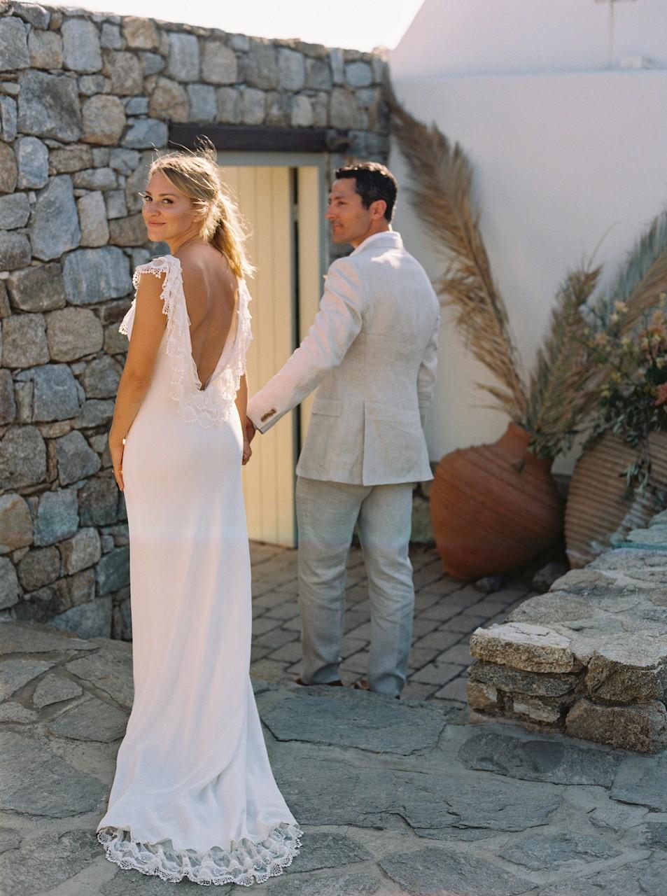 Bohemian Mykonos Wedding with Clifftop Ceremony