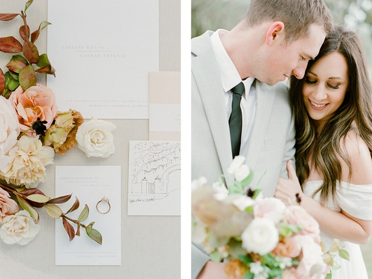 Peach and blush Savannah Wedding Inspiration