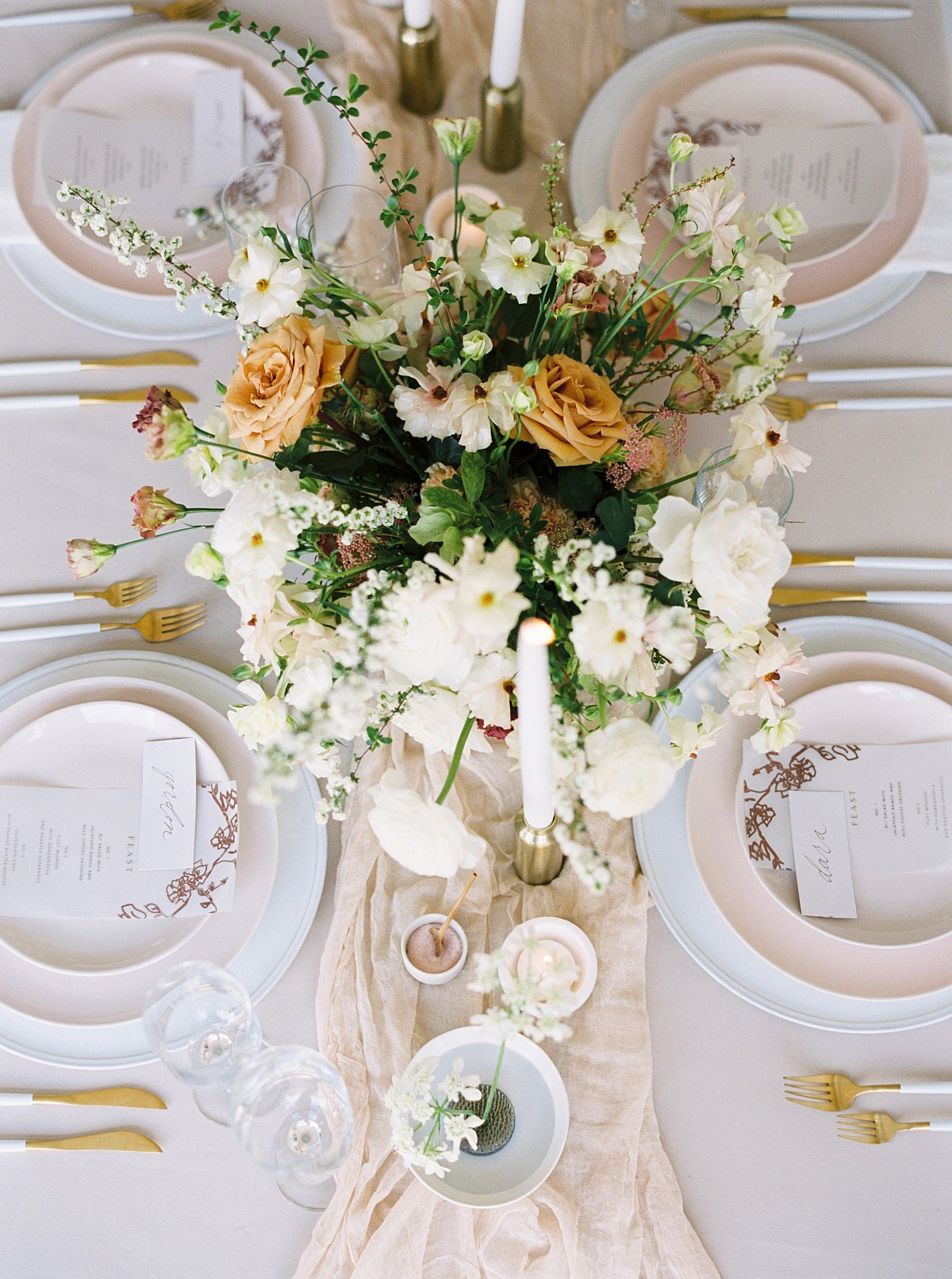 Feminine yet modern wedding ideas from The Hybrid Atelier