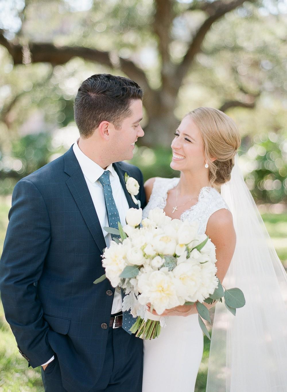 Alecia and Matt's Tampa Wedding in Light Blue