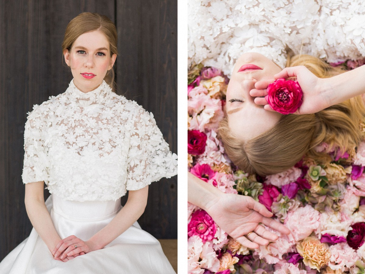 Striking pink floral editorial inspired by Steel Magnolias
